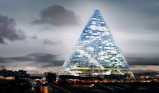 La tour triangle unibail une pyramide de verre aux portes de paris pour 201 - Tour de verre marseille ...